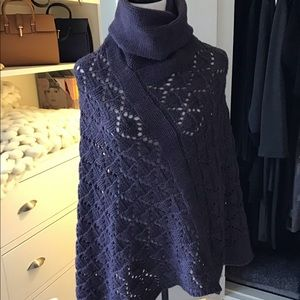 Sweaters - Virgin Wool Knitted Poncho
